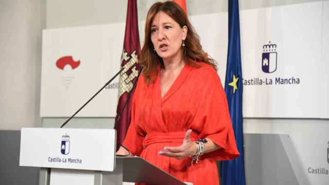 Blanca Fernández, consejera portavoz del Gobierno de Castilla-La Mancha, en una imagen de este miércoles