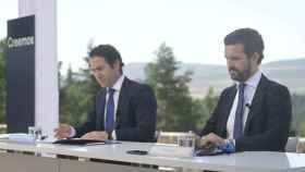 Pablo Casado y Teodoro García Egea en la Junta Directiva Nacional del PP en el Parador de Gredos.