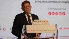Ximo Puig, durante su intervención. EE