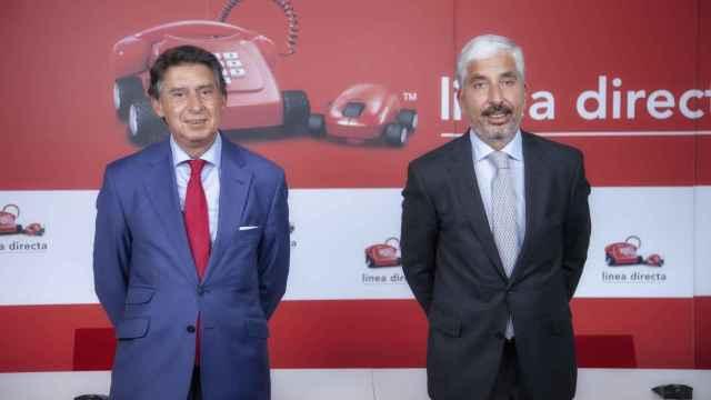 Miguel Ángel Merino, consejero delegado de Línea Directa Aseguradora, y Carlos Rodríguez, director financiero.