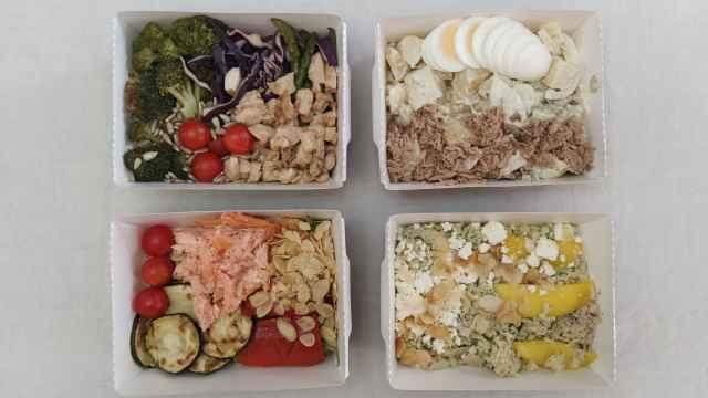 Cuatro de las seis nuevas ensaladas de Mercadona.