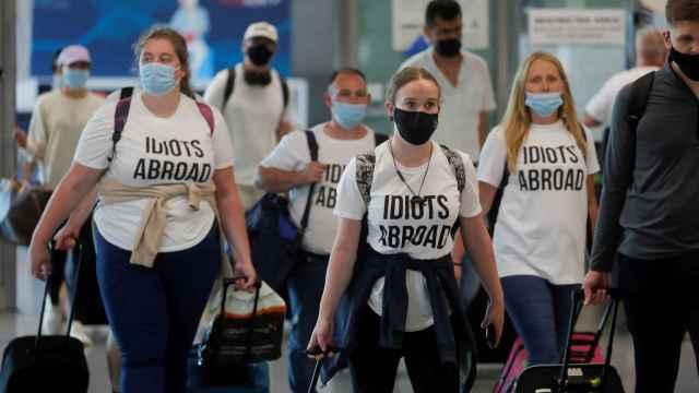 Británicos llegando al aeropuerto de Málaga.