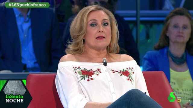 Elisa Beni en una de sus intervenciones en La Sexta Noche.