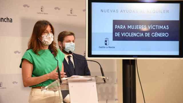 Los consejeros Blanca Fernández y Nacho Hernando, este jueves en rueda de prensa