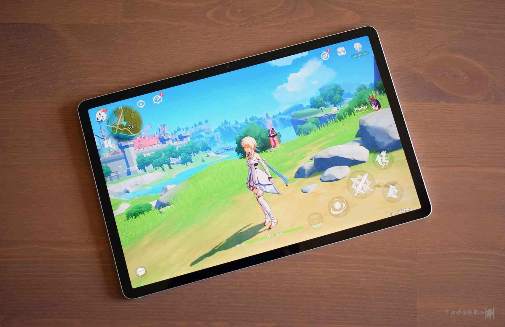 Así se ve Genshin Impact en la Samsung Galaxy Tab S7 FE