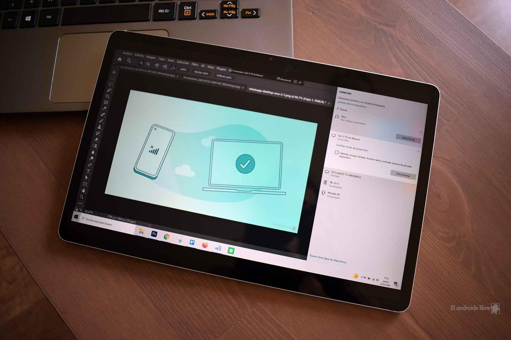 Conexión a Windows desde la tablet de Samsung