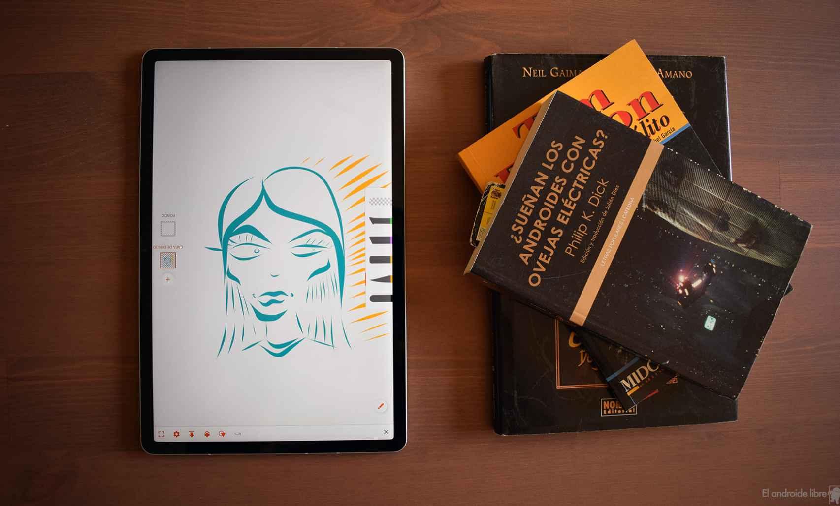 Formato vertical para dibujar con la Samsung Galaxy Tab S7 FE