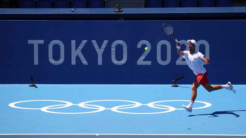 Novak Djokovic, durante los Juegos Olímpicos de Tokio 2020