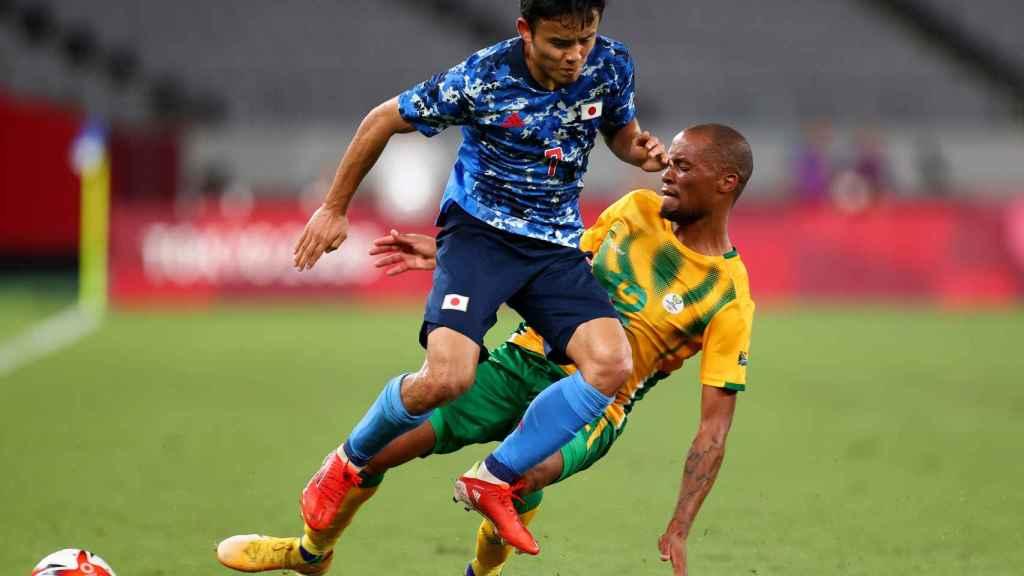 Take Kubo, durante el partido ante Sudáfrica