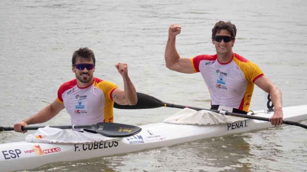 Francisco Cubelos junto a Íñigo Peña en el campeonato mundial. Foto: @PacoCubelo