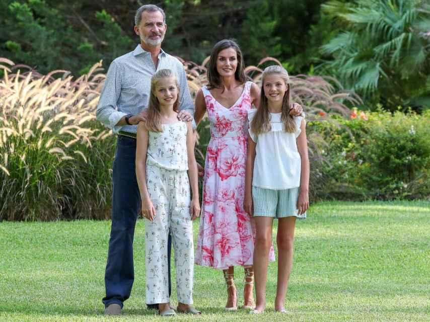 Los posados se han reducido al Rey, Letizia, la princesa Leonor y la infanta Sofía.