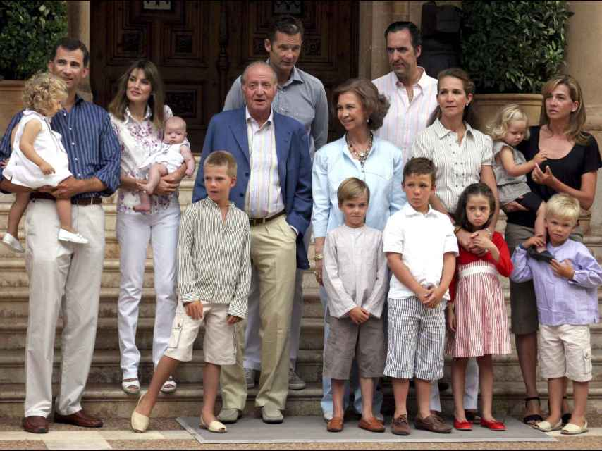 Posado en Marivent de la Familia Real al completo en 2007.