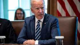 Joe Biden en una reunión del Gobierno estadounidense.