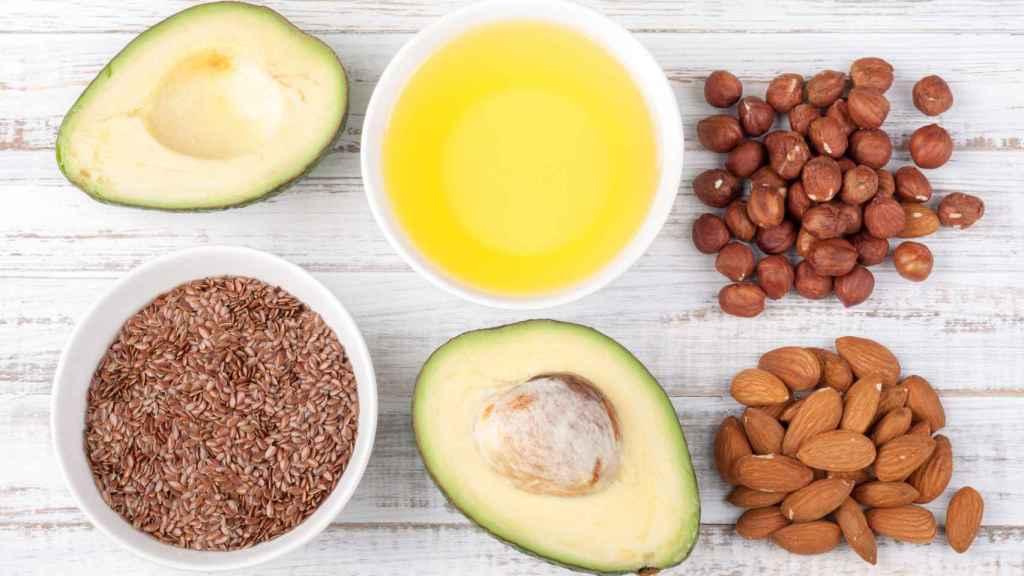 Alimentos con ácidos grasos omega-3.