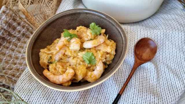 Açorda de camarones, una receta típica portuguesa de langostinos
