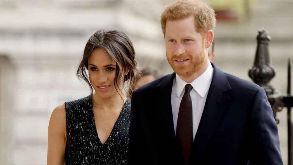 Meghan Markle y Harry, en uno de sus actos en Reino Unido semanas antes de casarse.