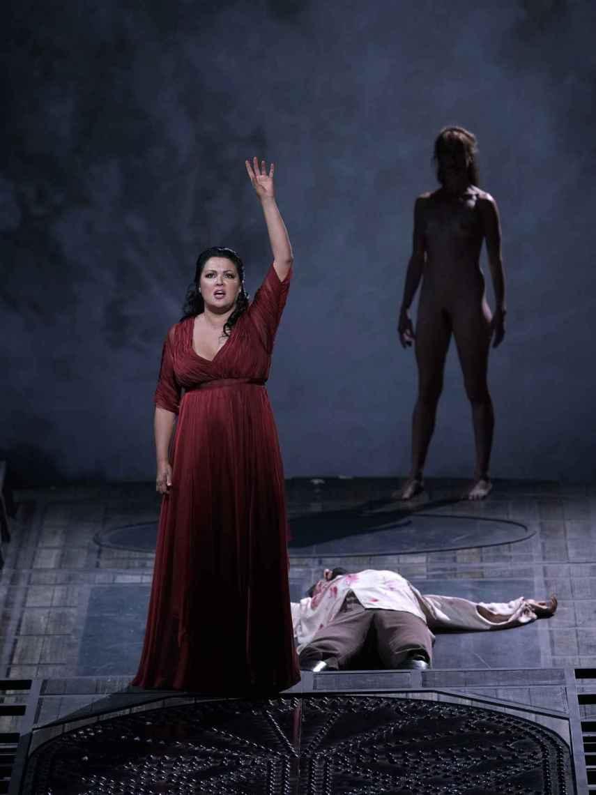 La soprano Anna Netrebko durante su interpretación de 'Tosca' en el Teatro Real.