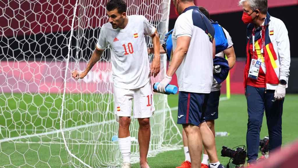 Dani Ceballos, durante el partido de la fase de grupos de los Juegos Olímpicos ante Egipto