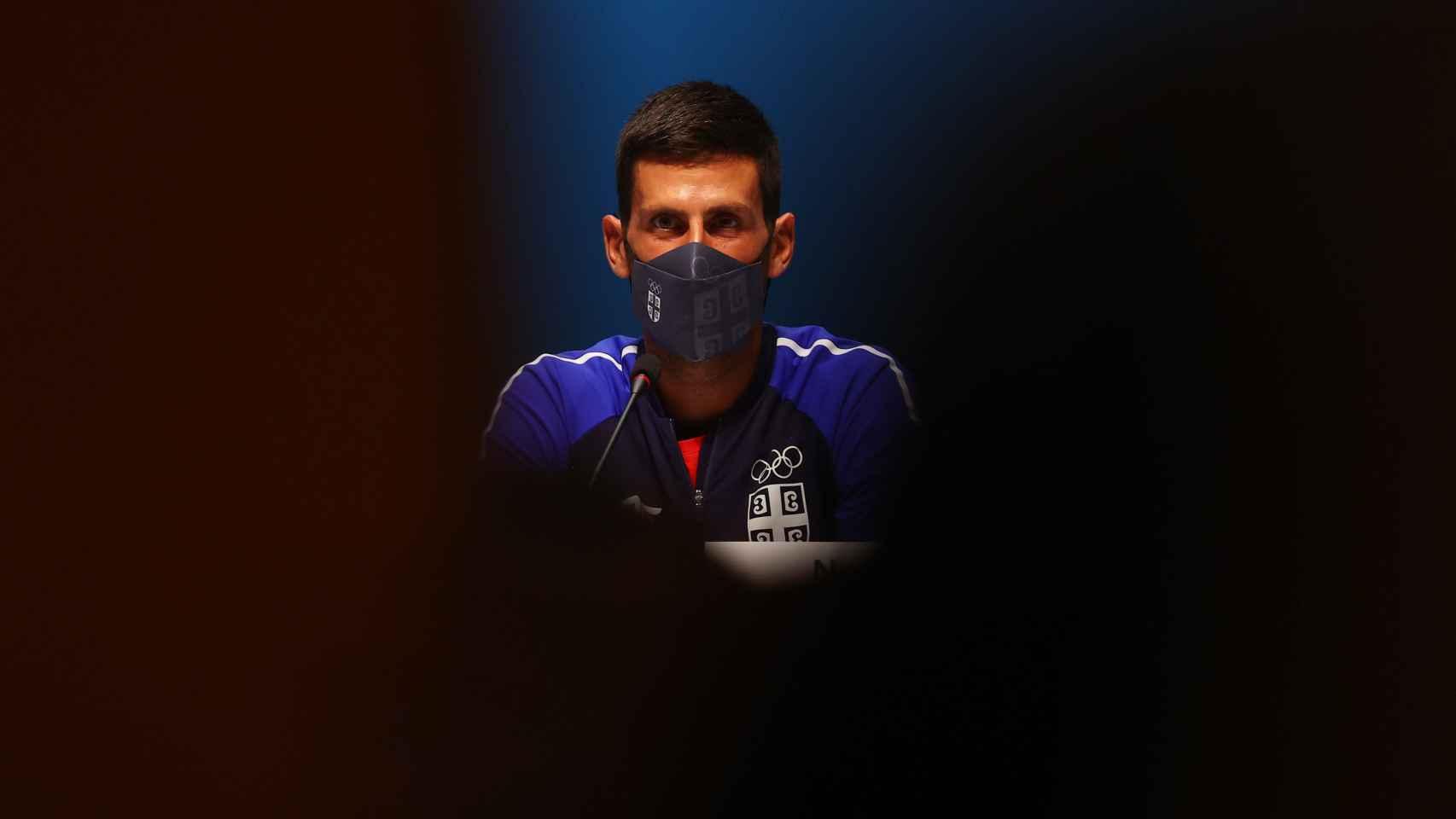 Novak Djokovic, en rueda de prensa