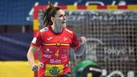 Carmen Martín, con la selección de balonmano
