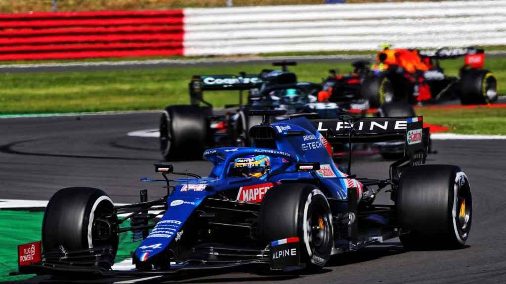 Fernando Alonso en el Gran Premio de Gran Bretaña en Silverstone
