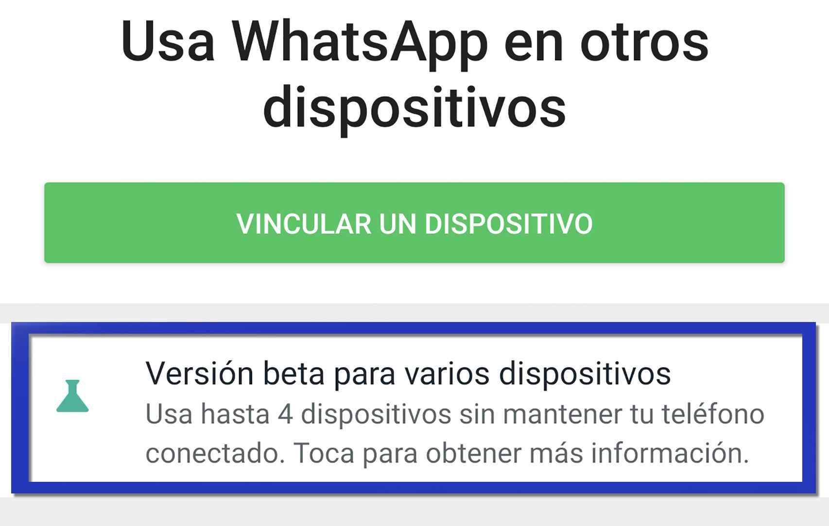 Usar WhatsApp en varios dispositivos