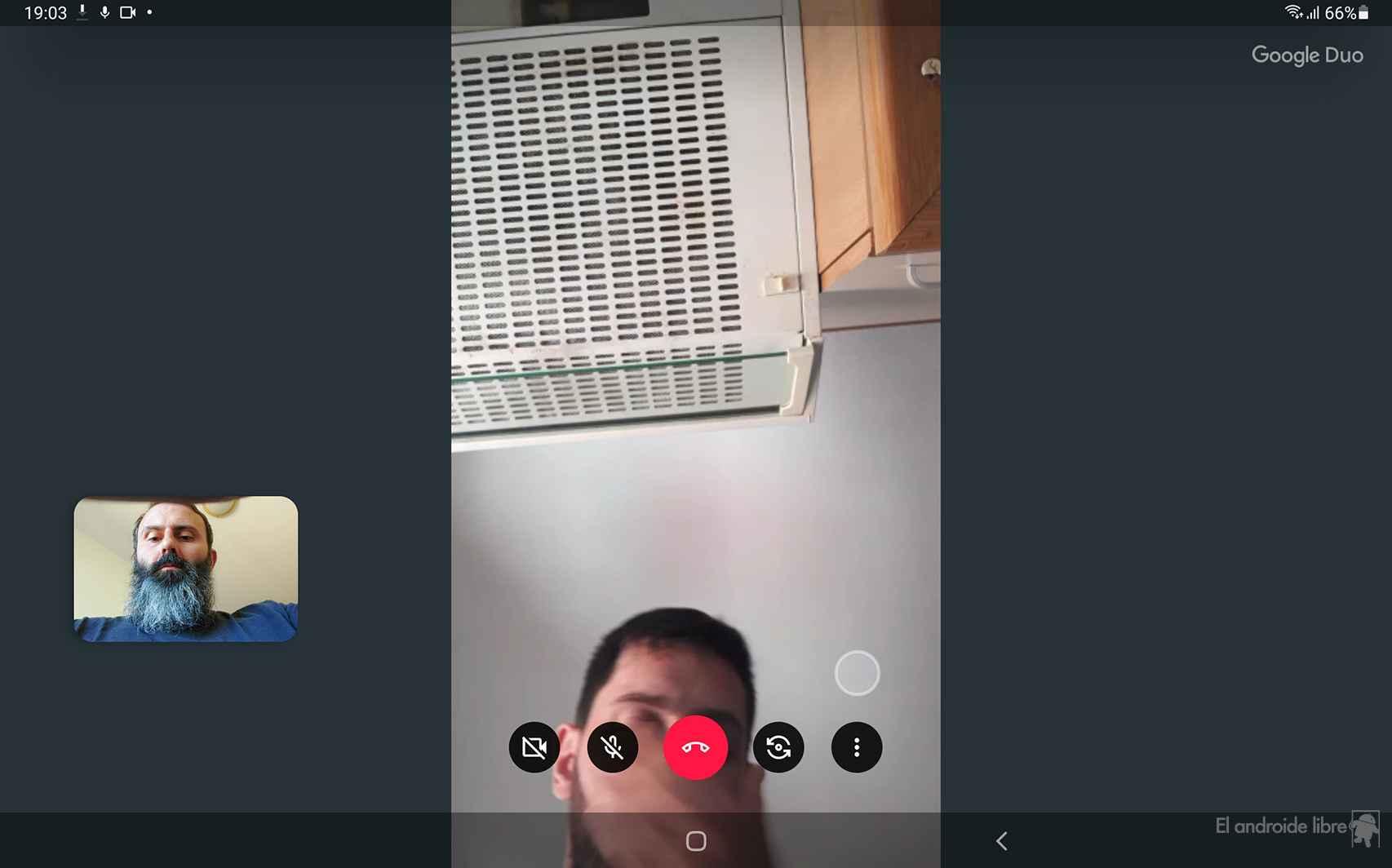 Una videollamada en Duo, la app de Google