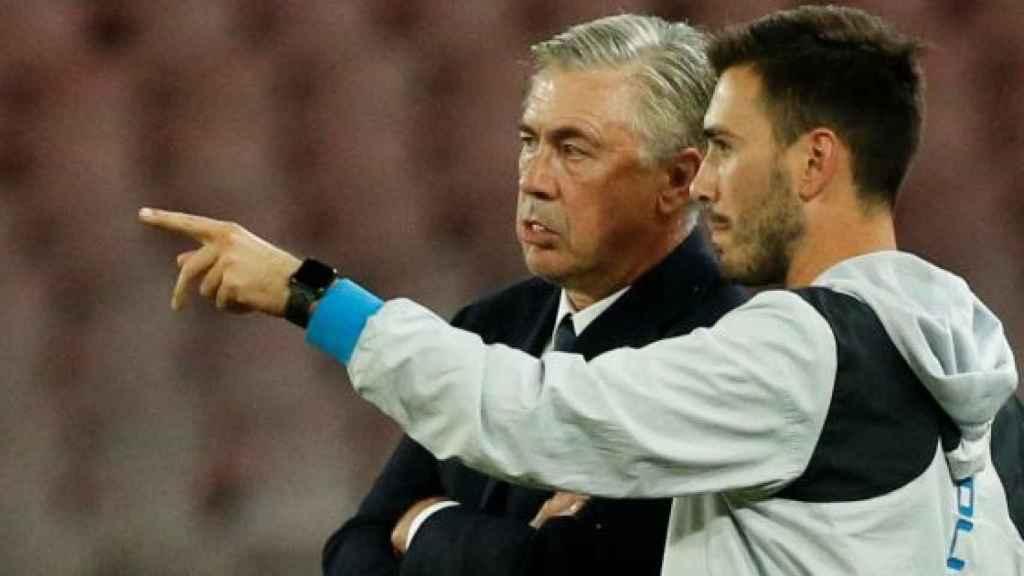 Davide Ancelotti junto a su padre