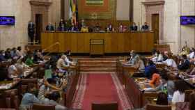 Sesión del Parlamento andaluz de este miércoles.