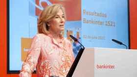María Dolores Dancausa, consejera delegada de Bankinter, durante la presentación de resultados.