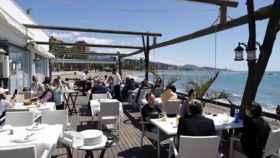 Imagen de la terraza de un bar de Málaga.