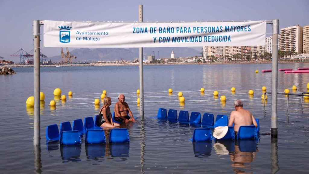 Zona de baño para personas mayores y con movilidad reducida.