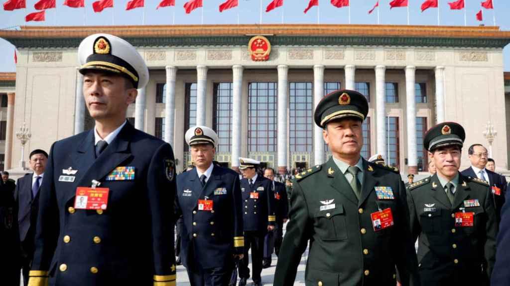 Una desfile militar de China en 2019.