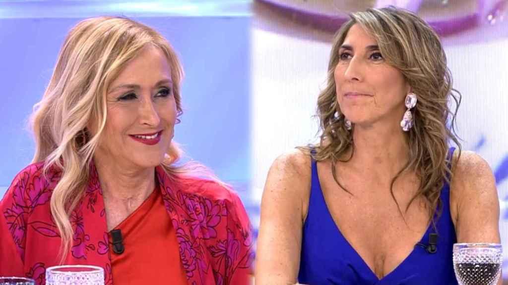 """Los dardos de Paz Padilla a Cifuentes en 'La última cena': """"Tiene un máster en comida"""""""