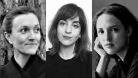 Las autoras de los libros 'Agathe', 'Los nombres propios' y 'El Parisino'.