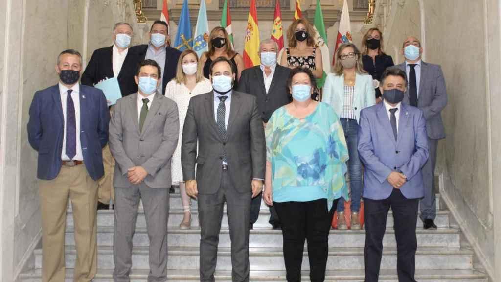 El presidente del PP, Paco Núñez, en su visita a Ciudad Real