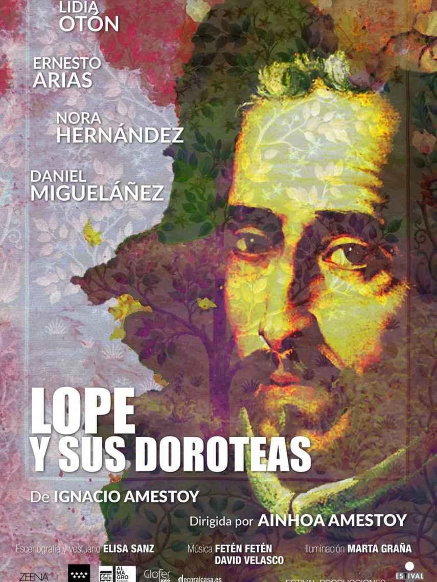 Cartel de la obra 'Lope y sus Doroteas'.