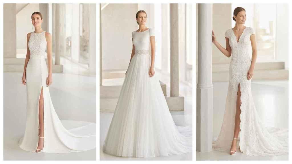 Tres modelos de la colección Rosa Clará Couture.