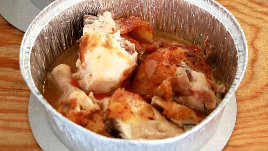 Medio pollo asado de Casa Galván. La unidad cuesta 7,95 euros.