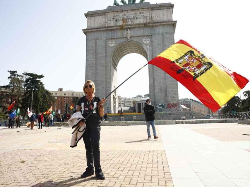 Manifestación a favor del franquismo en Madrid el 28 Marzo 2021.