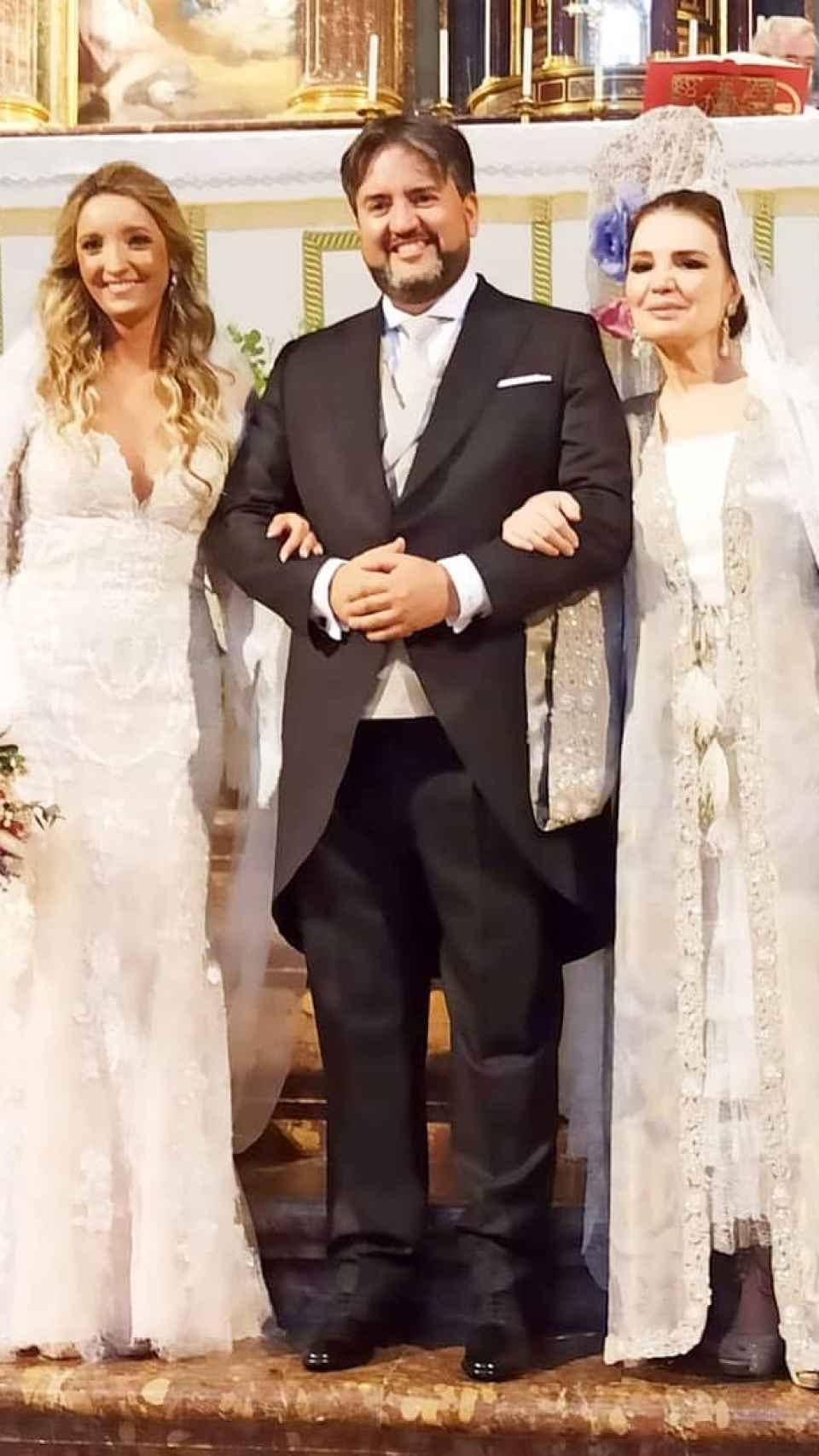Cantudo el día de la boda de su hijo Manolo.
