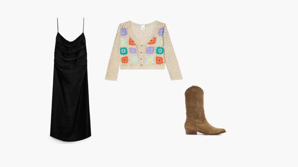 El 'sleep dress' se convierte en una prenda bohemia acompañado de estas prendas.