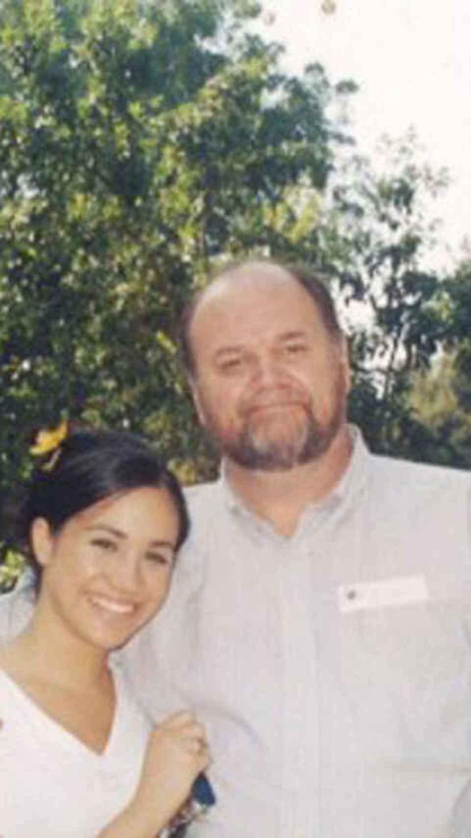 Meghan y su padre cuando aún mantenían buena relación.