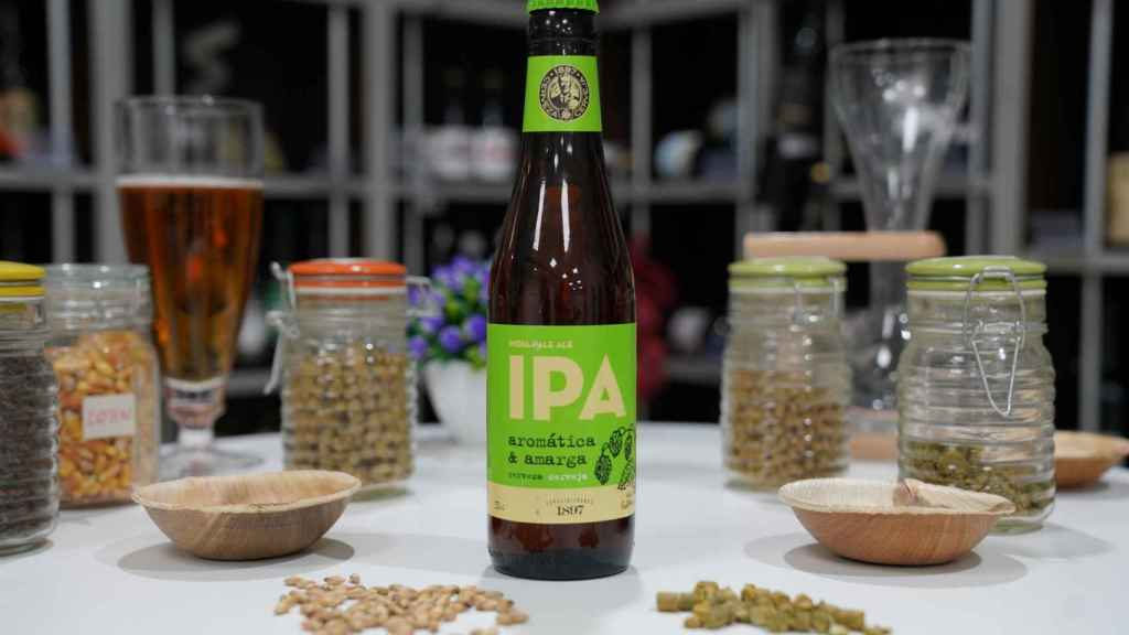 La botella de cerveza estilo IPA de Mercadona.