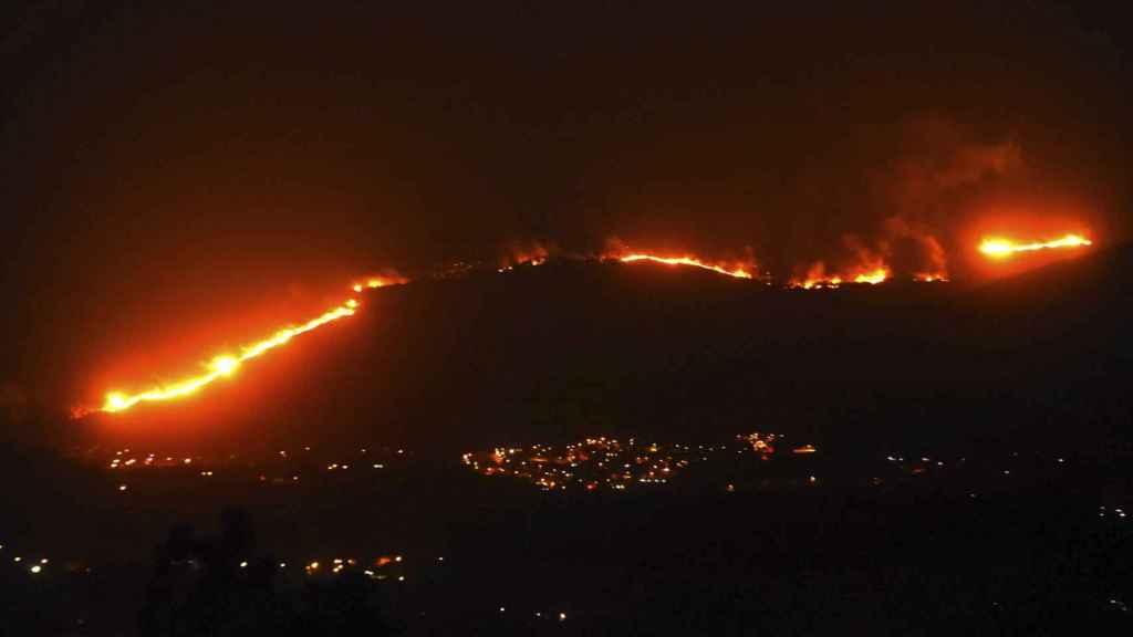 Incendio cerca de Gondomar, en Pontevedra (Galicia), en 2017.