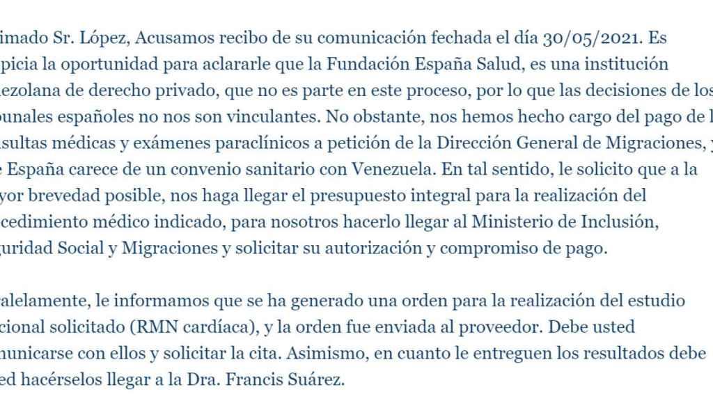 La Fundación creada y controlada por la Embajada de España en Venezuela alega que no está sometida a las decisiones de los tribunales españoles.