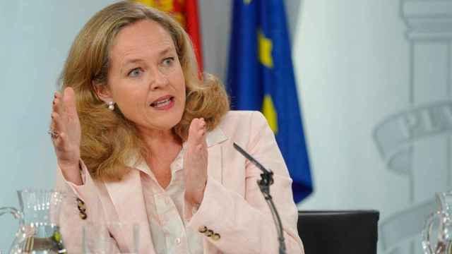 Nadia Calviño, en La Moncloa
