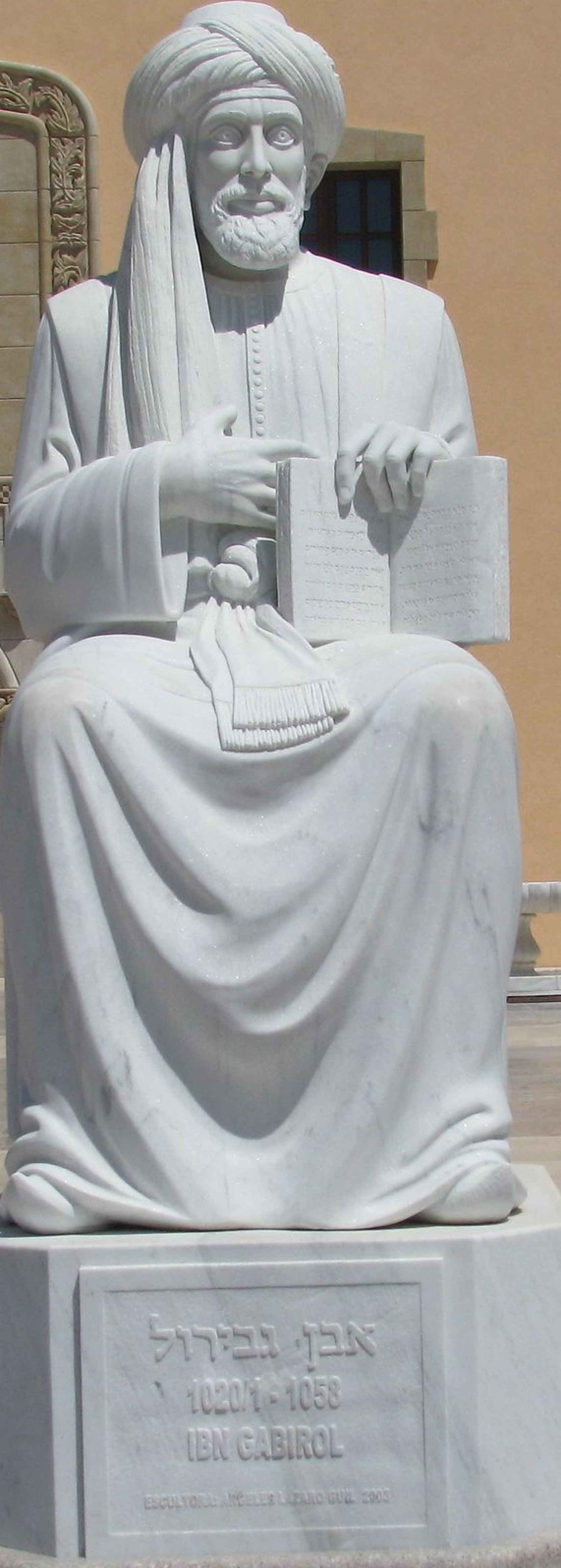 La estatua en Israel.
