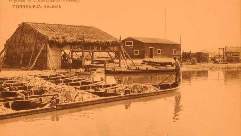 Salinas de Torrevieja, foto histórica.