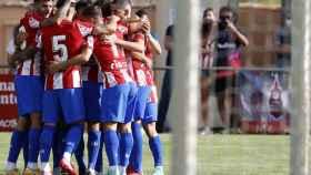 El Atlético de Madrid celebrando un gol